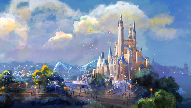 Shanghai Disney Resort storybook castle