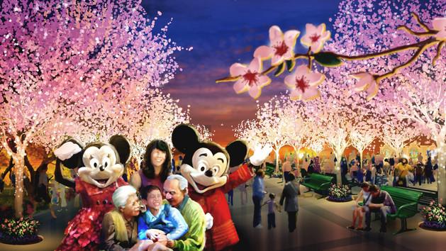 Shanghai Disneyland garden twelve friends