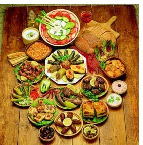 Сервировка закусок в Турции