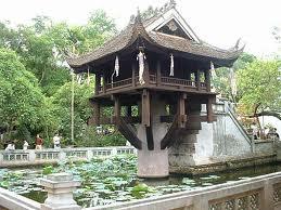 Пагода на столбе. Ханой, Вьетнам